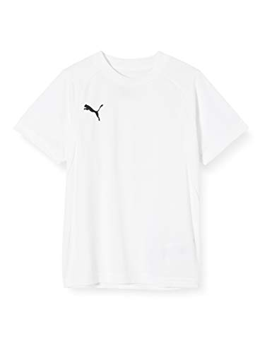 PUMA Unisex Kinder, Liga T-shirt, White/Black, 164