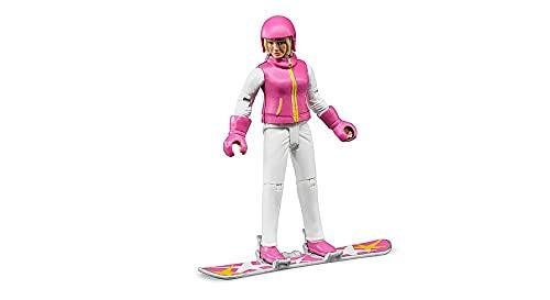Bruder 60420 - Snowboardfahrerin mit Snowboard,...