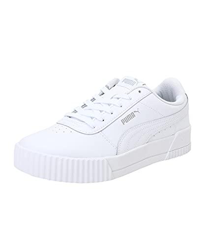 PUMA Damen Carina L Sneaker, White White Silver,...
