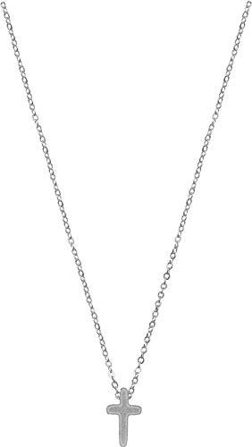 Kette - Halskette mit Kreuzanhänger: (versilbert)