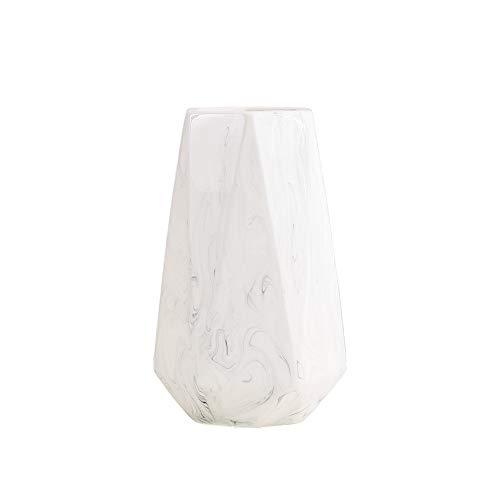 HCHLQLZ 20cm Weiß Marmor Vase Keramik Vasen...