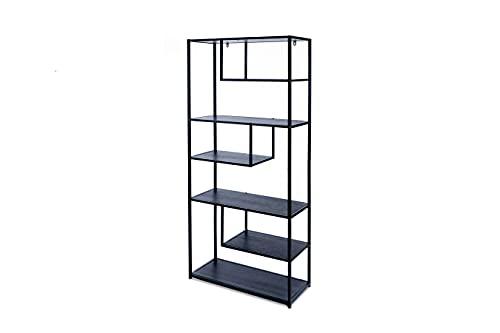 LIFA LIVING Modernes Bücherregal aus Metall für...