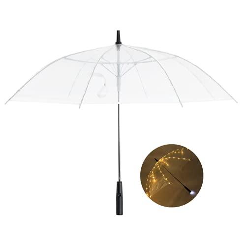 ZOYLINK LED Transparenter Regenschirm Kinder...