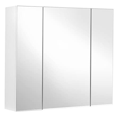 VASAGLE Spiegelschrank, Badezimmerschrank,...