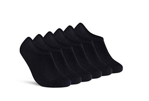 Sneaker Socken Damen Schwarz 35-38 Füßlinge 6...