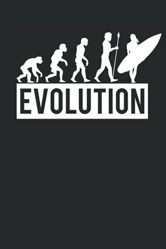 Surfer Evolution Notizbuch (liniert) Wassersport...