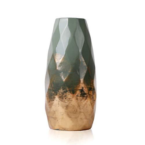 TERESA'S COLLECTIONS Grüne Golde Keramik Vase...