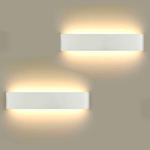 2 Stücke Wandlampe LED 16W, Wandleuchte Innen...