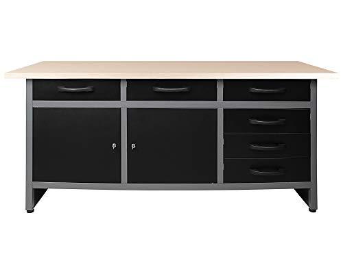 Ondis24 Werkbank Werktisch Packtisch 6 Schubladen...