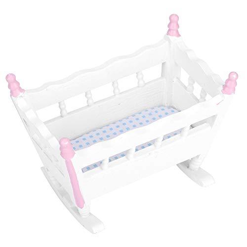 Zerodis Puppenhaus Mini Baby Wiege Simulation...