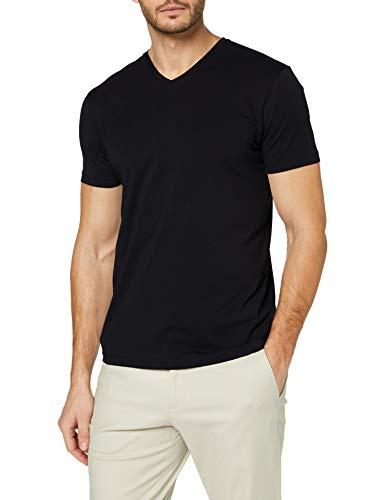 ESPRIT Herren V-Neck Basic T-Shirt, 001/BLACK, XL