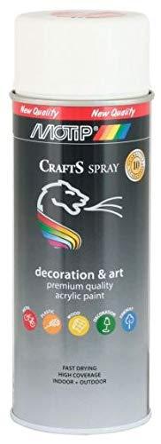 CRAFTS Lack Motip Acryl weiß matt Spray Farbe...