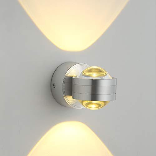 GHB 6W LED Wandleuchte Halb Globe Warmweß...