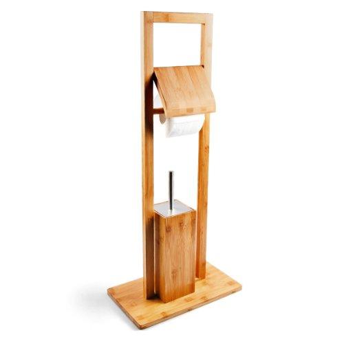 Relaxdays WC Garnitur aus Bambus, HBT: 82 x 36 x...