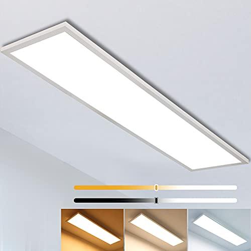 Dimmbar LED Deckenleuchte Panel 120x30 cm mit...