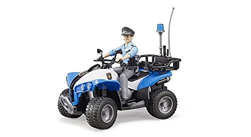 Bruder 63010 - Polizei Quad mit Polizist und...