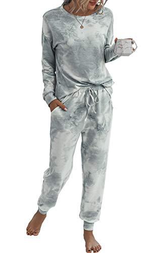 Spec4Y Pyjama Damen Zweiteilige Nachtwäsche Tie...