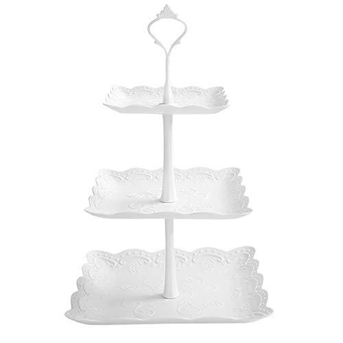 Jinlaili 3 Etagen Teller Plastik Weiß...