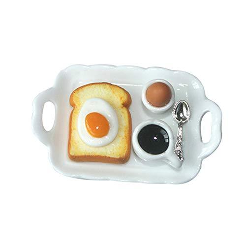 lamta1k Puppenhaus Essen,Simulation Egg Toast Food...