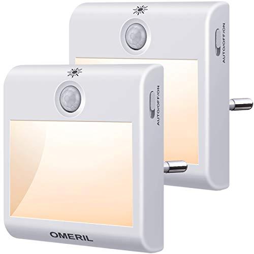 Nachtlicht Steckdose mit Bewegungsmelder, OMERIL 2...