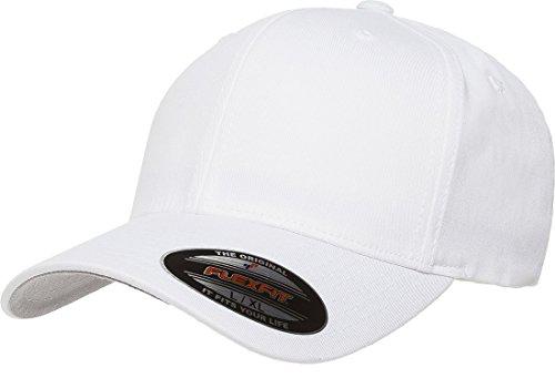 Yupoong Flexfit Kappe aus Baumwolltwill - Weiß -...