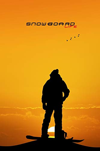 SNOWBOARD LIFE PUNKTRASTER NOTIZBUCH: 6x9 Zoll...