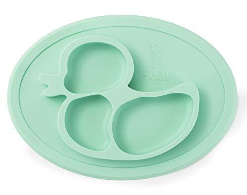 BPA-freier und rutschfester Kinderteller 27x20x3cm...