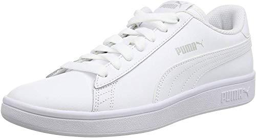 PUMA Unisex Smash V2 L Sneaker, White White, 43 EU