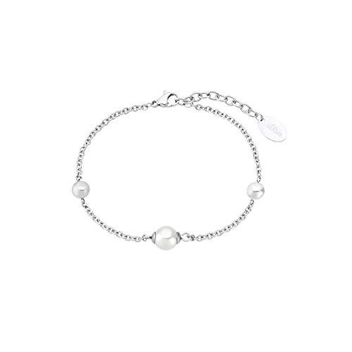 s.Oliver Armband für Damen, Edelstahl | Kugel