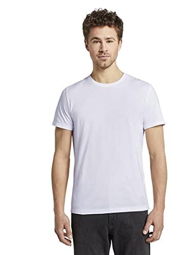 TOM TAILOR Herren Doppelpack Crew Neck T Shirt,...