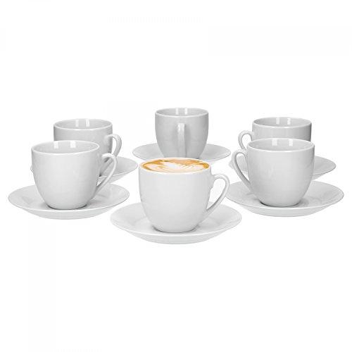 Van Well Trend 6er Set Kaffeetasse mit Untertasse...
