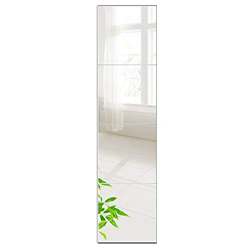 AUFHELLEN Wandspiegel 6 Stück 26x26cm aus Glas...