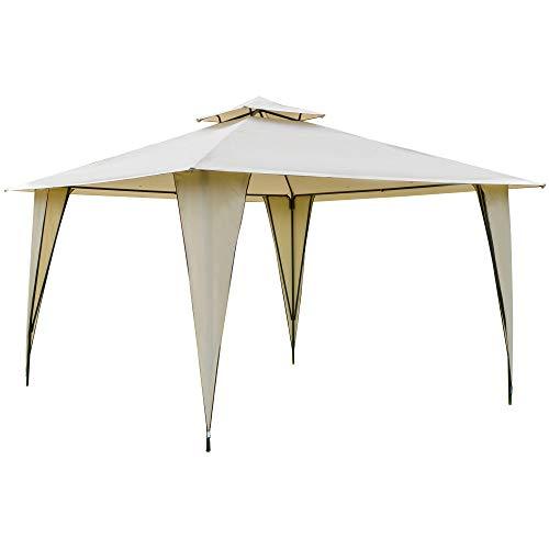 Outsunny Pavillon Partyzelt mit Doppeldach...