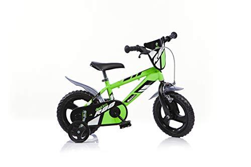 Dino Bikes Jungen Kinderfahrrad Fahrrad, Grün, 12...