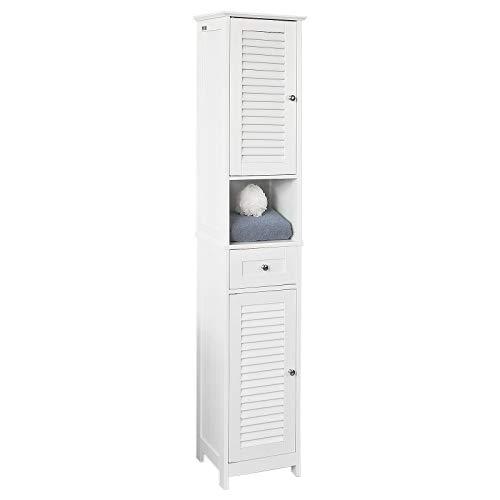 SoBuy® FRG236-W Badezimmer-Hochschrank Badregal...