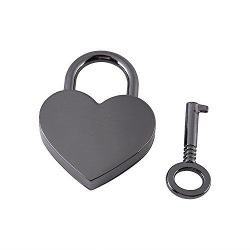 GLOGLOW klein Metall Herzform Vorhängeschloss,...