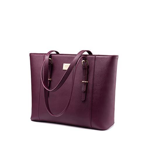 LOVEVOOK Laptop Handtasche Damen 15.6 Zoll, Groß...