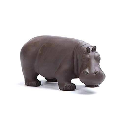 MISS KANG Skulpturen Hippo Tee Haustier lila lehm...