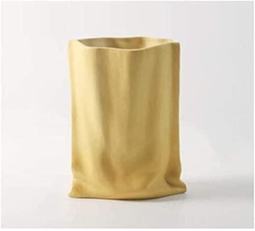 YANRUI Vase Keramik Falten Blumentopf Handwerk...