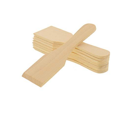 8X HOFMEISTER® Raclette-Schaber aus Holz, 13 cm,...