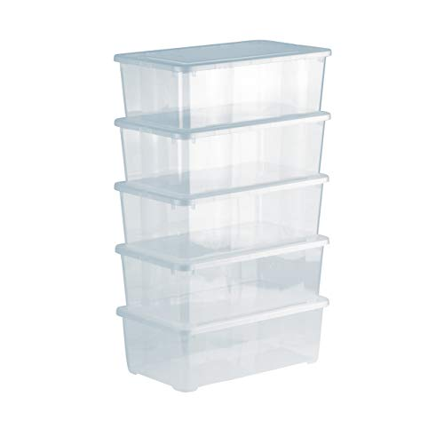 Grizzly Aufbewahrungsboxen 5 x 5 L mit Deckel...