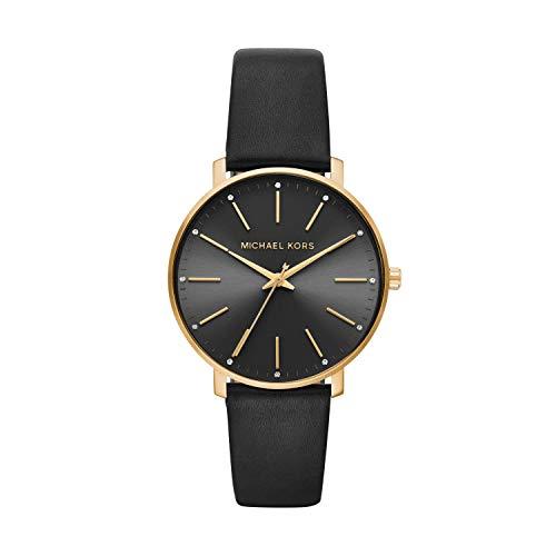 Michael Kors Damen Analog Quarz Uhr mit Leder...