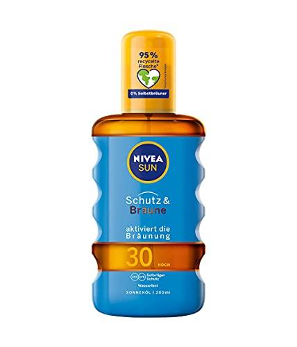 NIVEA SUN Sonnenöl-Spray, Lichtschutzfaktor 30,...