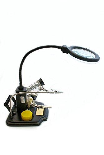 edi-tronic LED Tischlupenleuchte Lupe mit Zubehör...