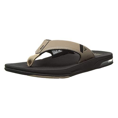 Reef Mens Fanning Low Fashion casual Flops, Black...