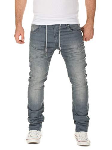 WOTEGA Herren Jeans Noah - Sweathose in Jeansoptik...