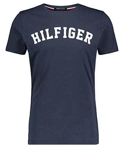 Tommy Hilfiger Herren T-Shirt SS Tee Logo, Blau...