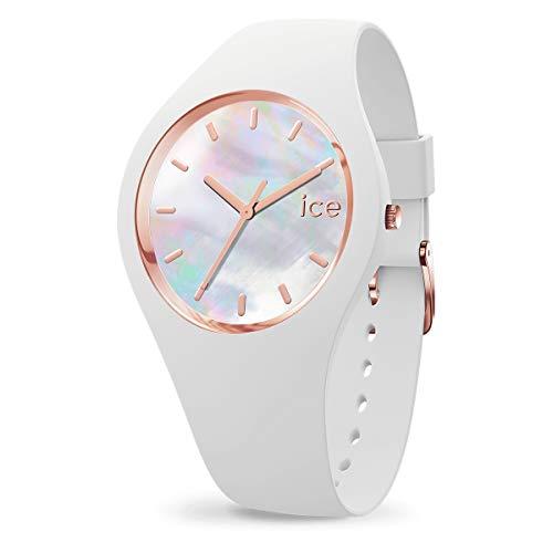 Ice-Watch - ICE pearl White - Weiße Damenuhr mit...