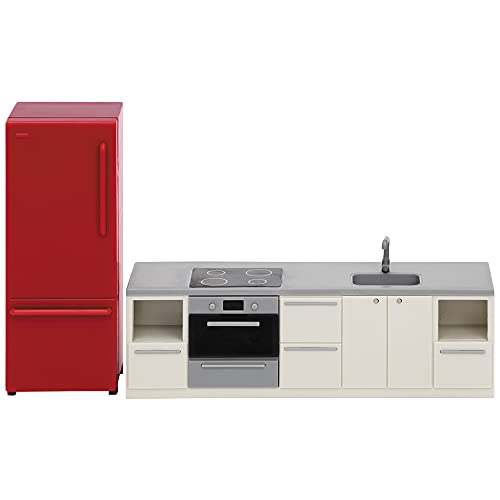 Lundby 60-306600 - Küche Puppenhaus rot/Weiss -...