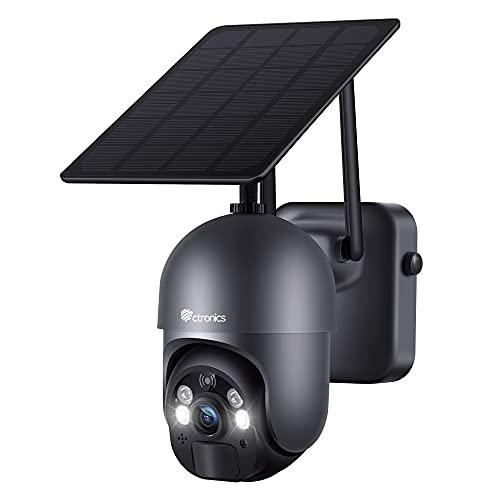 Ctronics Überwachungskamera Aussen Akku 15000mAh...